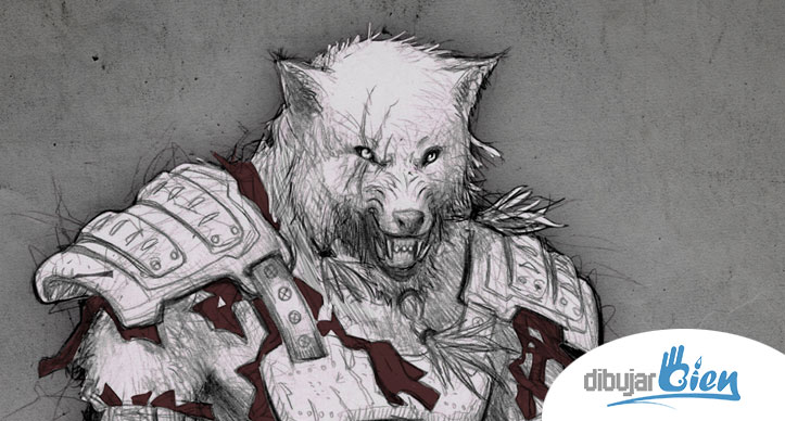 Fenris el Hombre Lobo licntropo wwwDibujarBiencom